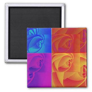 Roses Square Magnet