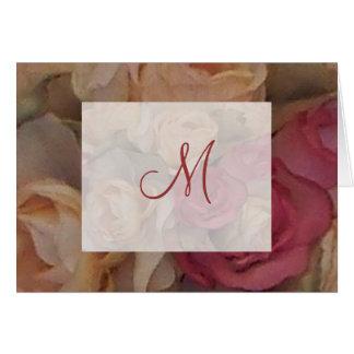Roses Monogram Note Card