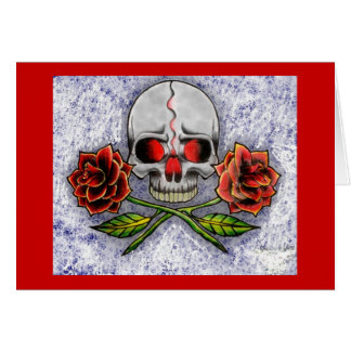 Roses Of Death Birthday Card