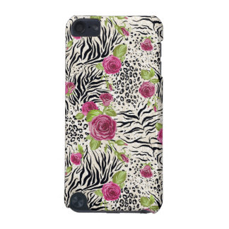 Roses On Animal Pattern iPod Touch 5G Covers