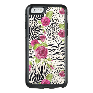 Roses On Animal Pattern OtterBox iPhone 6/6s Case