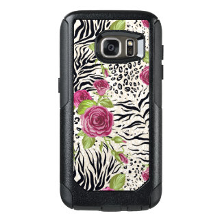 Roses On Animal Pattern OtterBox Samsung Galaxy S7 Case