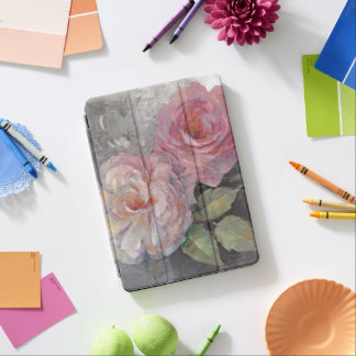 Roses on Gray iPad Air Cover