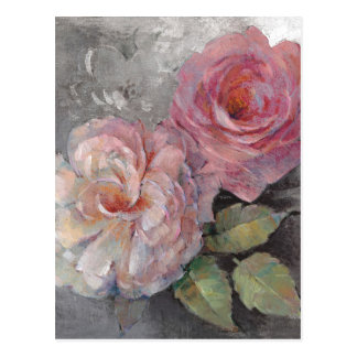 Roses on Gray Postcard