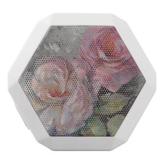 Roses on Gray White Bluetooth Speaker