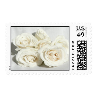 Roses on Linen Postage Stamp