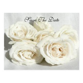 Roses on Linen Postcard