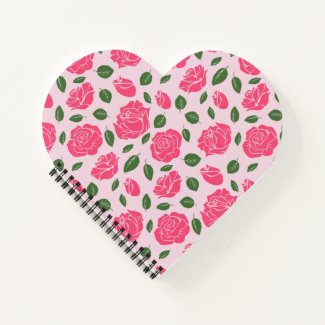 Roses on  notebook