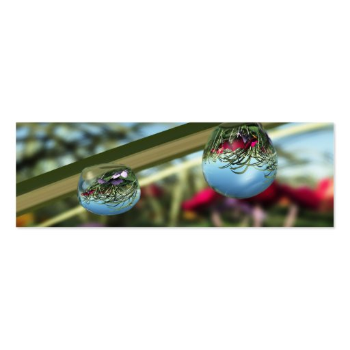Roses on Raindrops Bookmarks Business Card Templates