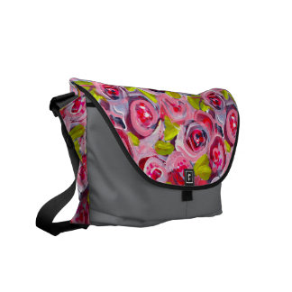 Roses on Roses on Roses Messenger Bags