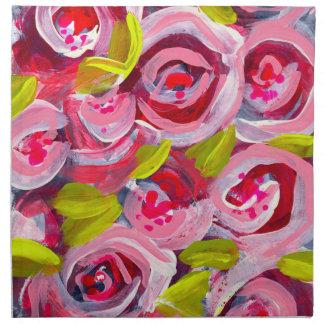 Roses on Roses on Roses Napkin