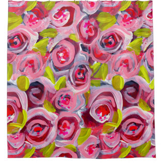 Roses on Roses on Roses Shower Curtain