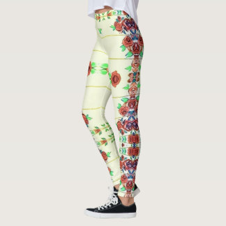 Roses on the the wall on leggings