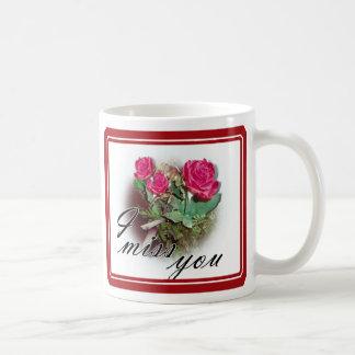 Roses on White Basic White Mug