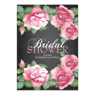 Roses:Painted Roses Bridal Shower Invitation