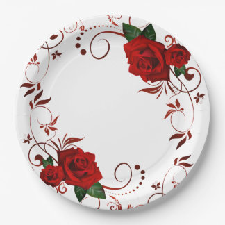 Roses Paper Plate
