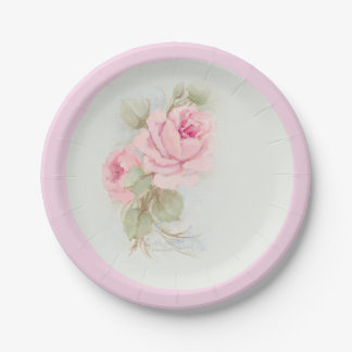 Roses Paper Plates