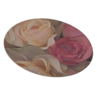 Roses Party Plate