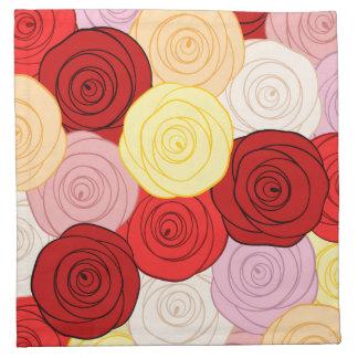 Roses Pattern Napkin
