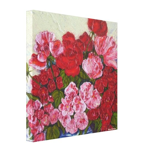 Roses & Peonies Gallery Wrap Canvas Print