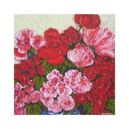 Roses & Peonies Gallery Wrap Canvas Print