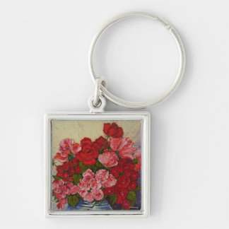 Roses & Peonies Key Chain