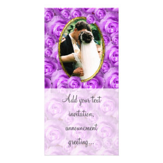 Roses Personalized Photo Card