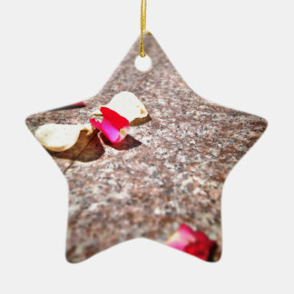 Roses Petal Christmas Ornament