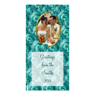 Roses/Photo Personalized Photo Card
