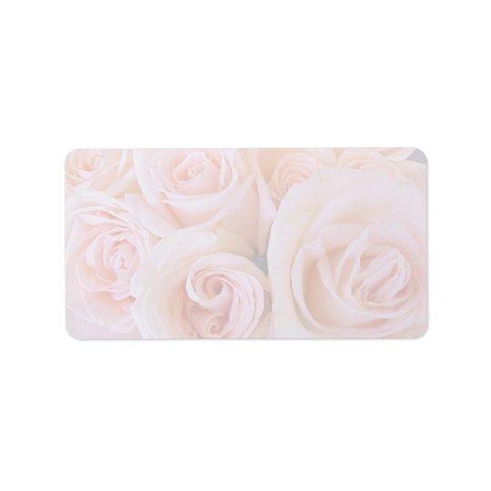 Roses pink address label