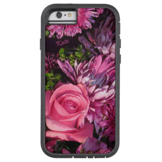 Roses! Pink Flowers! Purple Flowers! Personalized Tough Xtreme iPhone 6 Case