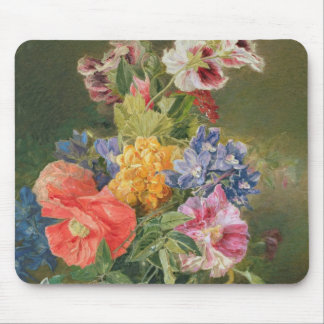 Roses, Poppy and Pelargonia Mouse Mat