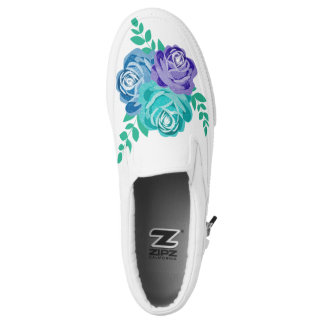 roses printed shoes