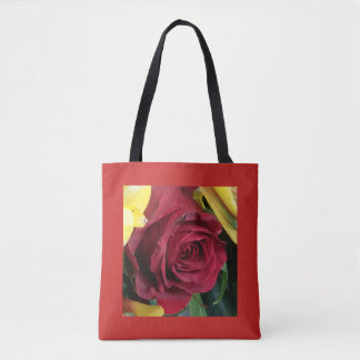 roses,red and yellow tote bag