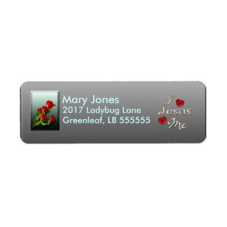 Roses Return Address Label