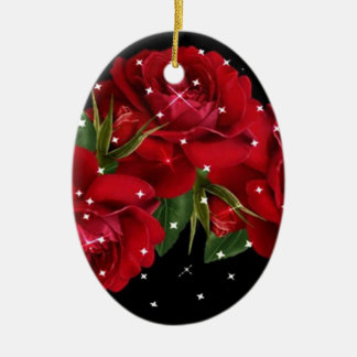 Roses Rich Roses Ceramic Oval Decoration