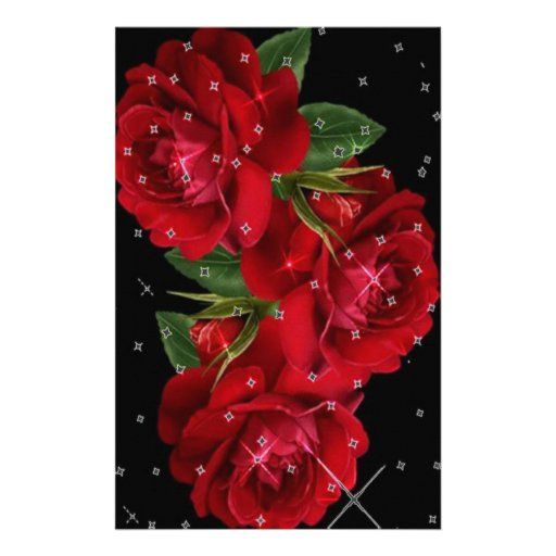 Roses Rich Roses Customized Stationery