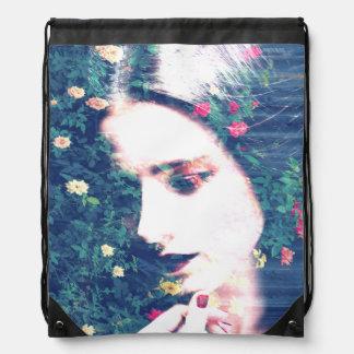Roses Romantic Mood Girl Beauty Floral Summer Drawstring Bag