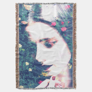 Roses Romantic Mood Girl Beauty Floral Summer Throw Blanket