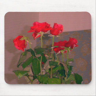 Roses, Venice - Red Mouse Pad