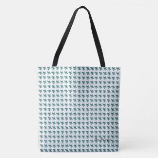Roses-Vintage-Teal*II-Multi Choices Tote Bag