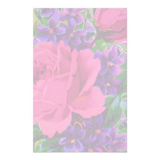 Roses & Violets Stationery