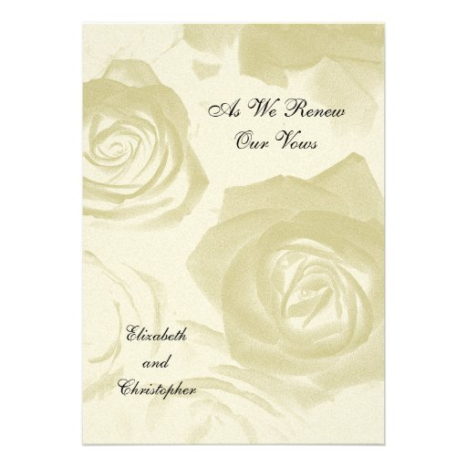 Roses Vow Renewal invitation Custom Announcements