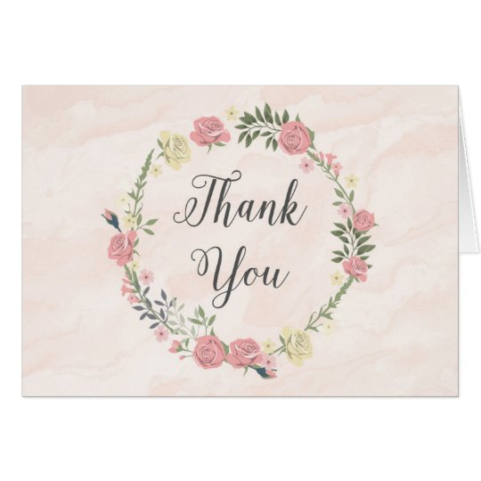 Roses Watercolor Thank You Card