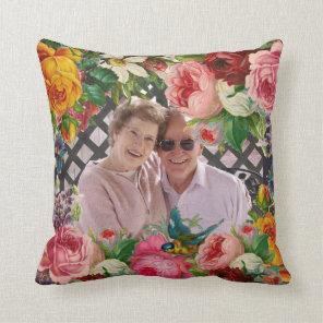 Roses Wedding Anniversary PHOTO Personalised Cushion