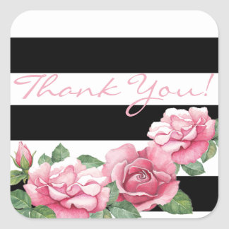 Roses: Whispers Painted Pink Rose Favor Stickers