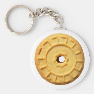 rosetta basic round button key ring