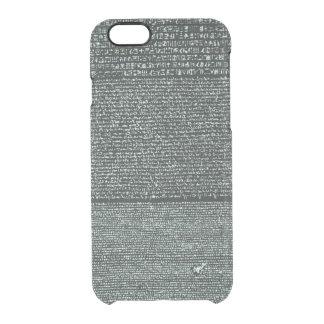 Rosetta Stone Ancient Egyptian hieroglyphs Clear iPhone 6/6S Case