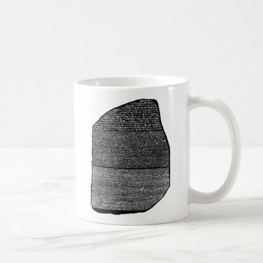 Rosetta stone basic white mug