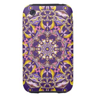 Rosette, decorative kaleidoscope tough iPhone 3 cover